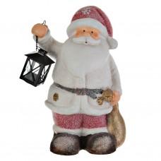 Adorno Santa con farol porta tealight