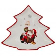 Plato mediano Árbol con Santa