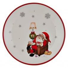 Plato navideño Santa