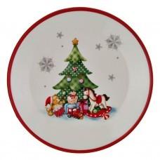Plato redondo Árbol de Navidad
