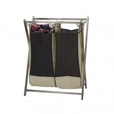 Cesto para ropa plegable 2 divisiones Household Essentials