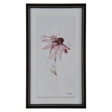 Cuadro con marco negro Flor Rosada