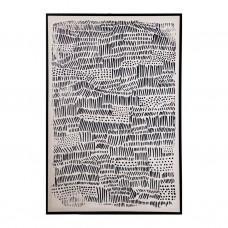 Cuadro con marco negro Abstracto