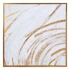 Cuadro con marco dorado Abstracto