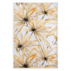 Cuadro con marco Hojas Blanco / Amarillo