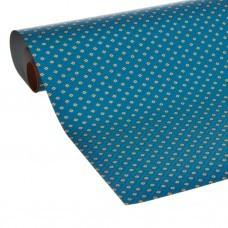 Papel regalo Rombos Shiny Azul / Dorado