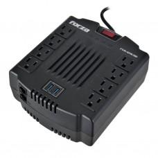 Regulador de voltaje 8 tomas / 2 USB / 1200VA / 600W FVR-1211USB Forza