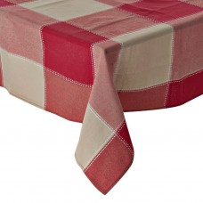 Mantel rectangular para 6-8 puestos Cuadros Rojo / Beige Haus