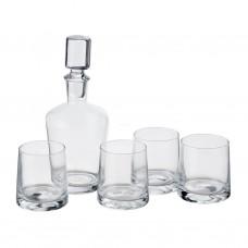Juego de botella de Whiskey y 4 vasos Novo