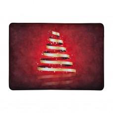 Alfombra con antideslizante Árbol Navidad Dorado / Rojo