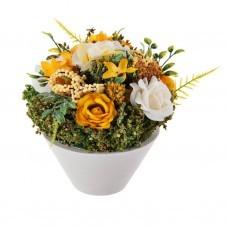Arreglo floral pequeño Rosas con base