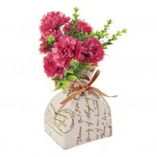 Mini arreglo floral con base de tela