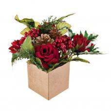 Arreglo floral Navideño Rosas con maceta