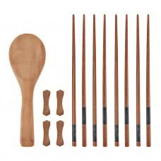 Palillos para sushi con base / cuchara Natural Bamboo Novo