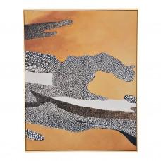 Cuadro con marco Puntos Abstracto Haus