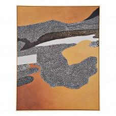 Cuadro con marco Negro / Dorado Puntos Abstracto Haus
