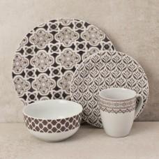 Vajilla de 16 piezas para 4 puestos Moroccan Haus