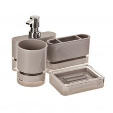 Juego de dispensador para jabón, jabonera, porta cepillos y vaso Float Haus