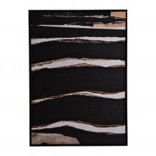 Cuadro con marco wengue Abstracto