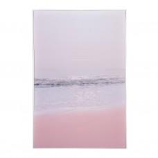 Cuadro con marco Playa Rosado / Gris
