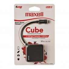HUB con conector USB Tipo-C / 4 USB 3.1 Cube Maxell