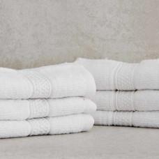 Juego de 6 toallas faciales Novo Blanco Madison