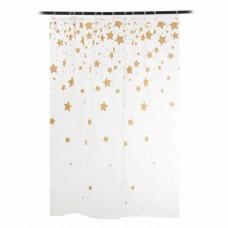 Cortina de baño Estrellas Doradas Interdesign