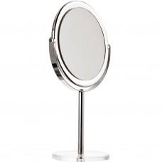 Espejo doble lado aumento 7x con pedestal y base 100% acrílico