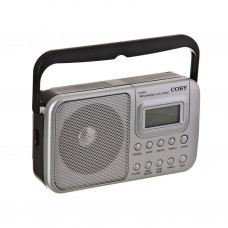 Radio portátil digital AM / FM / Reloj Coby