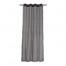 Cortina decorativa con ojales Líneas Cruzadas