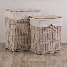 Hamper Off White Puntos Haus