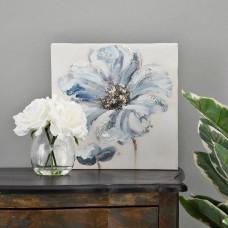 Cuadro Flor Blanco / Azul