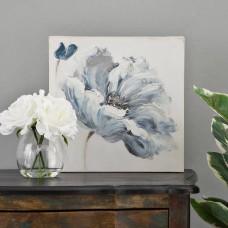 Cuadro Flor Azul / Blanco