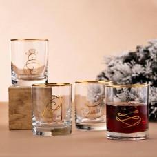 Juego de 4 vasos Whisky Navidad Novo