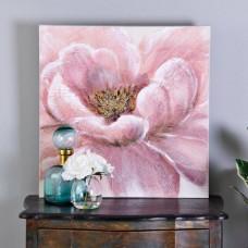 Cuadro Flor Rosado / Dorado
