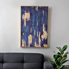 Cuadro Abstracto Azul / Dorado
