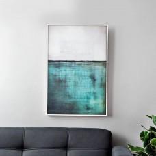 Cuadro Abstracto Blanco / Verde