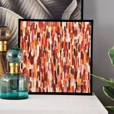 Cuadro Abstracto Terracota / Multicolor