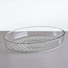 Bandeja ovalada de vidrio para hornear