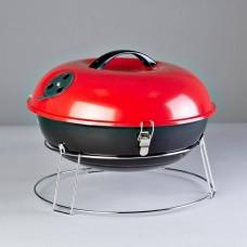 BBQ redondo a carbón con tapa para mesa