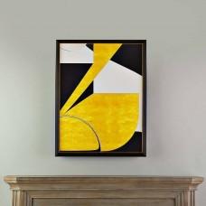 Cuadro con marco Negro / Dorado Abstracto
