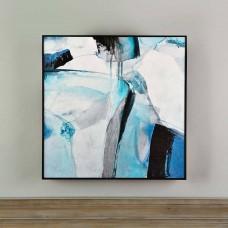 Cuadro con marco Abstracto Azul / Celeste
