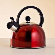 Tetera de acero inoxidable para inducción 2.5 L Rojo