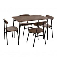 Comedor rectangular de 4 puestos Miel