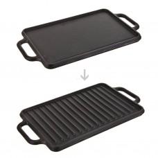 Plancha grill reversible con asas para inducción Victoria
