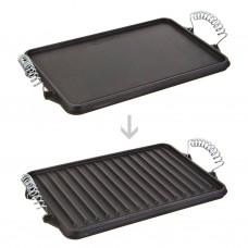 Plancha grill reversible con asas de metal para inducción Victoria