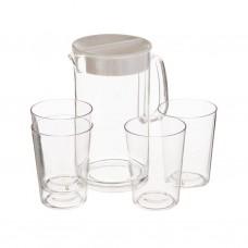 Jarra con vasos Clear Pioneer
