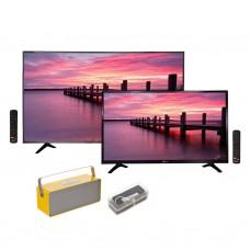 "Riviera TV LED 55"" ISDB-T Smart UHD 4K + TV 32"" Smart HD + Parlante + Pendrive"