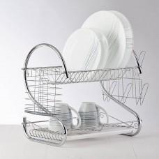 Escurridor para platos 2 niveles Acero Cromado / Plástico Novo