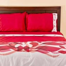 Juego de sábanas Árbol de Navidad Rojo Sublimado Haus